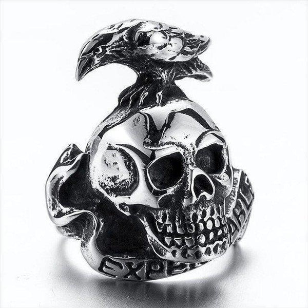 Stainless Steel Expendables Skull Ring