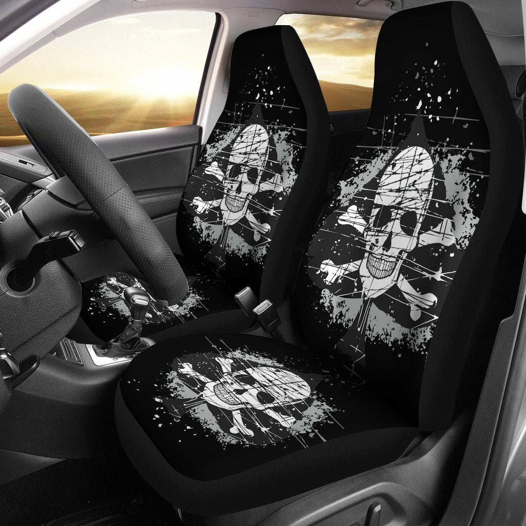 Ace of Spades with Skull Car Seat Covers
