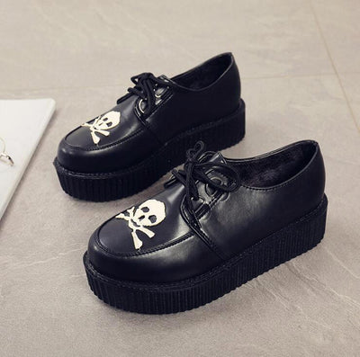 Gothic Skull Shoes Boots