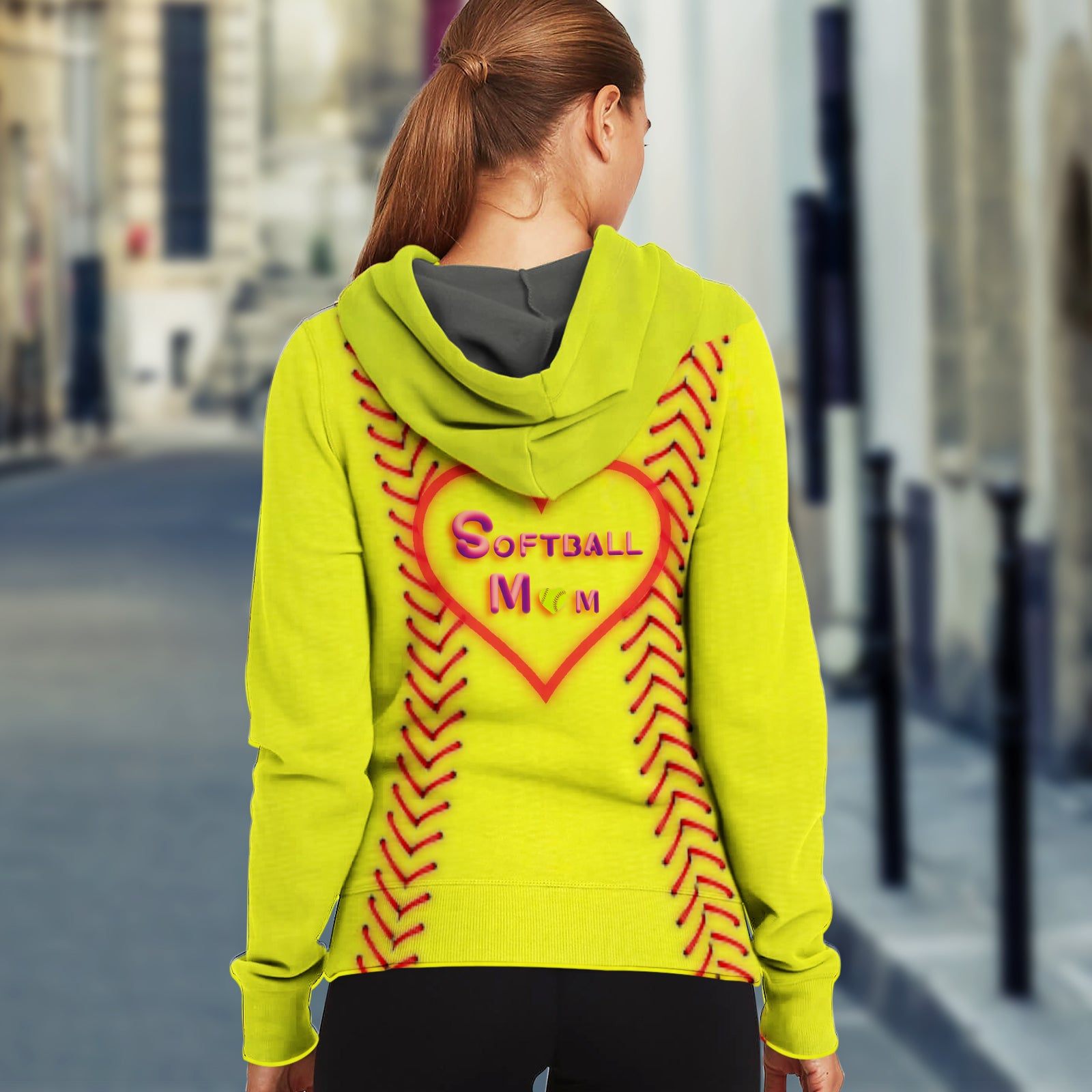 Unisex Hoodie for Softball lovers - Softball Mom Hoodies - designfullprint