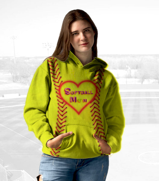 Unisex Hoodie for Softball lovers - Softball Mom Hoodies