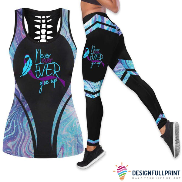 Suicide Awareness Holo Tank Top And Legging Set