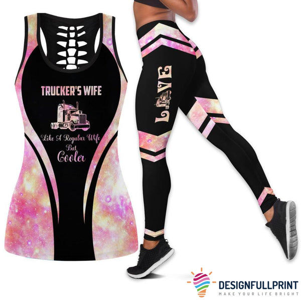 Trucker's Wife Tank Top And Legging Set