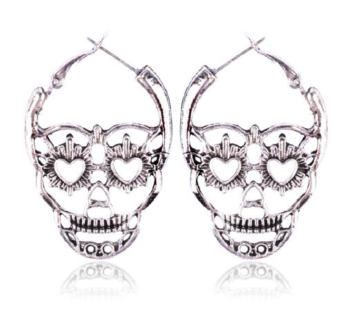 Vintage Retro Hollow Skull Earrings - designfullprint