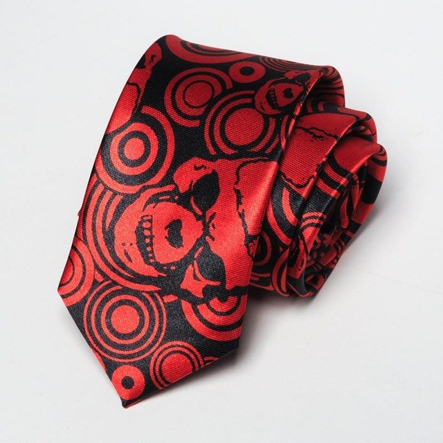 Skull Party Necktie Mens