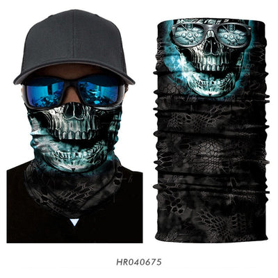 Special Selection: Multi-use Skull and Halloween Face Shields - designfullprint