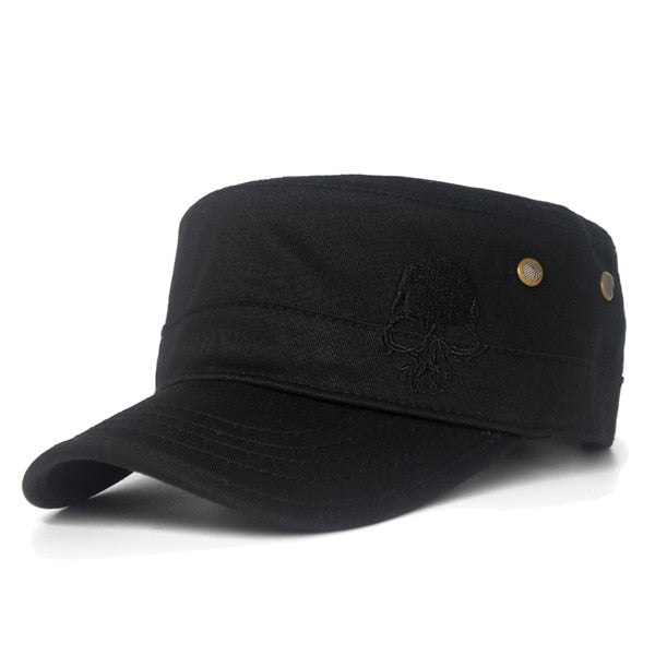 High Quality Skull Embroidered Casual Baseball Cap
