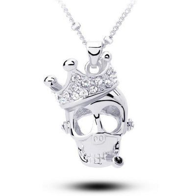 Crystal Crown Skull Skeleton Necklaces