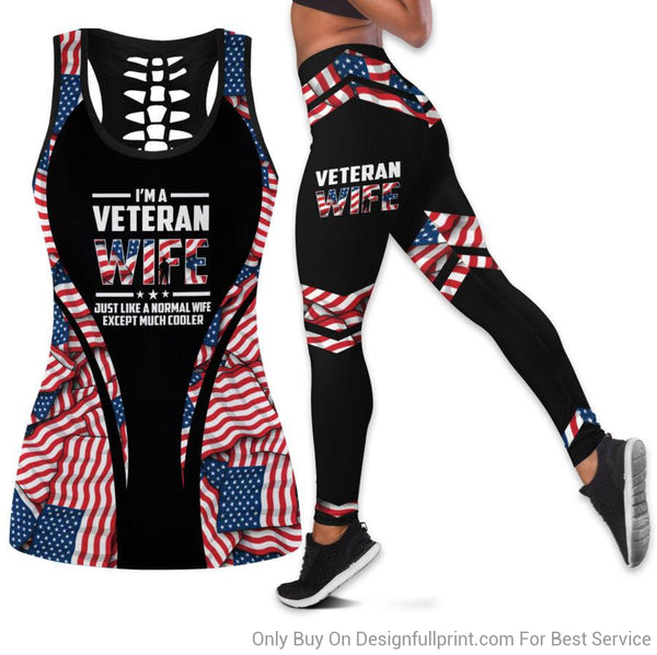 Veteran Wife Tank Top And Legging Set