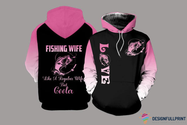 Fishing Wife Personalized US Unisex Size Hoodie