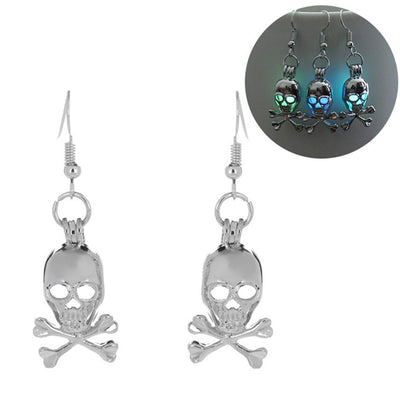 Trendy Skull Head Luminous Cute Earrings