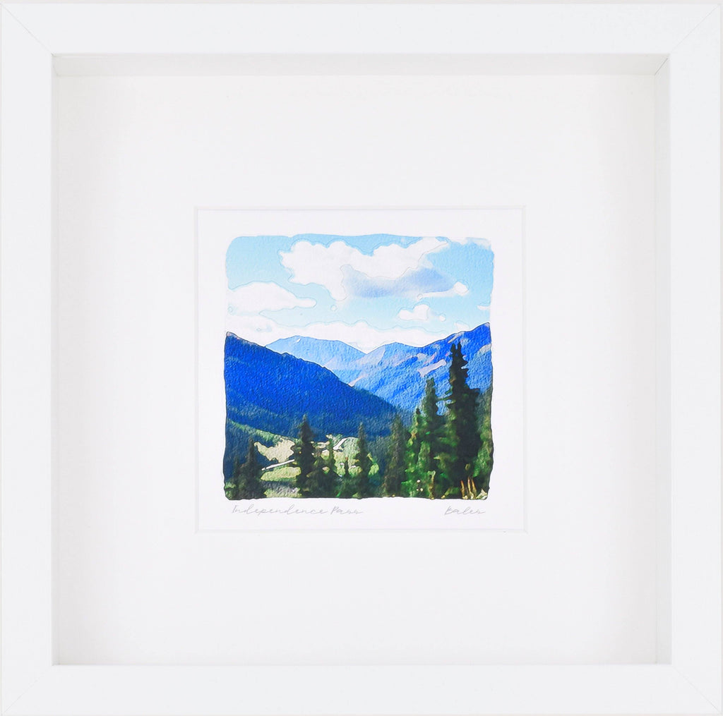 Independence Pass Art, Aspen Colorado, Framed Giclee Print