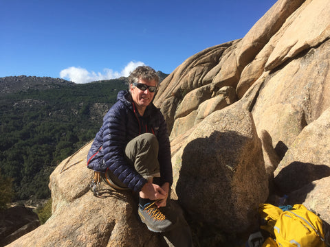 Andy Hyslop in Pedriza, Spain