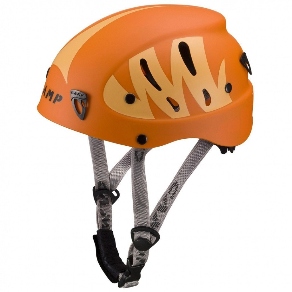 Camp Armour Junior climbing helmet, in orange colours