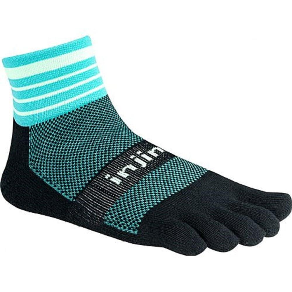 Injinji Trail Midweight Mini Crew running sock (Dark Mint)