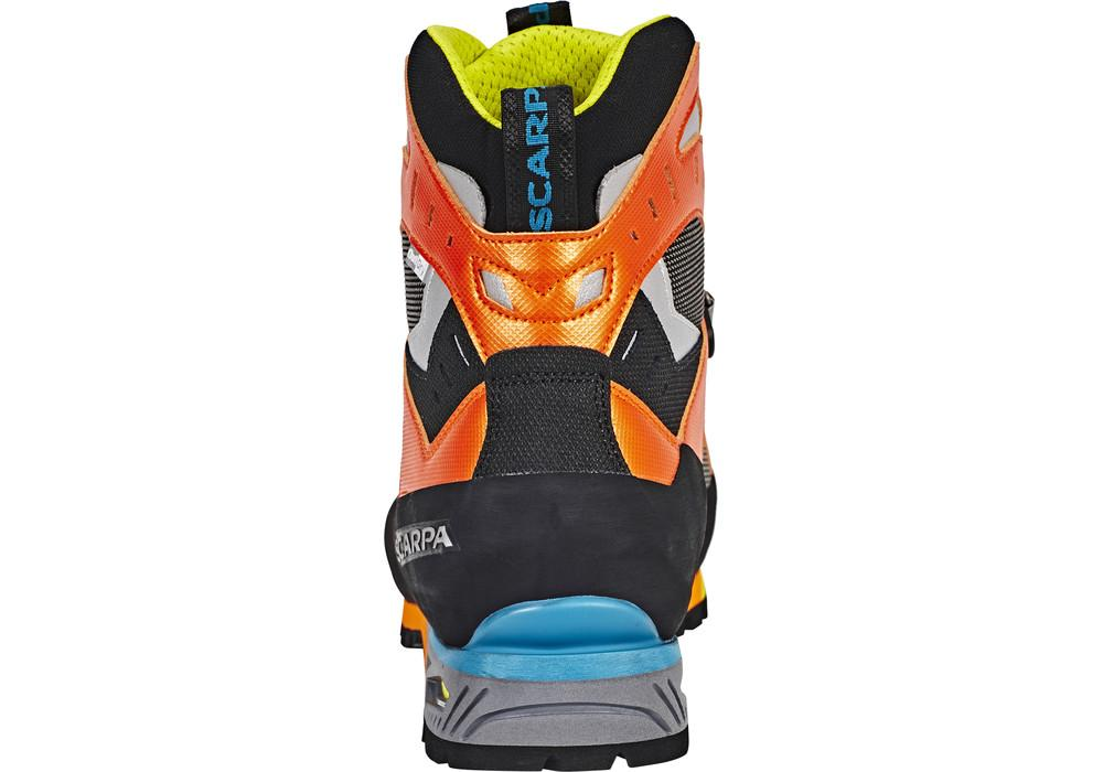 Scarpa Charmoz OD mountaineering boot, rear view of the heel