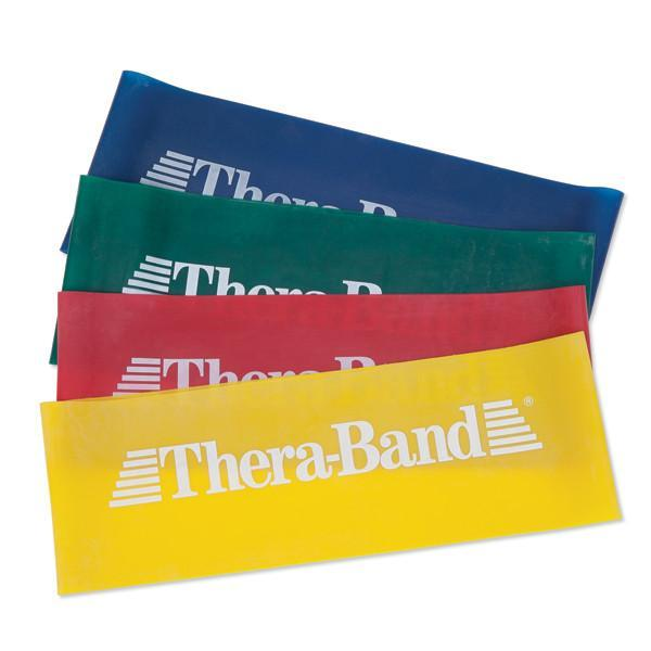 Beyond Hope Thera-Bands training aid, showing all four colour progressions