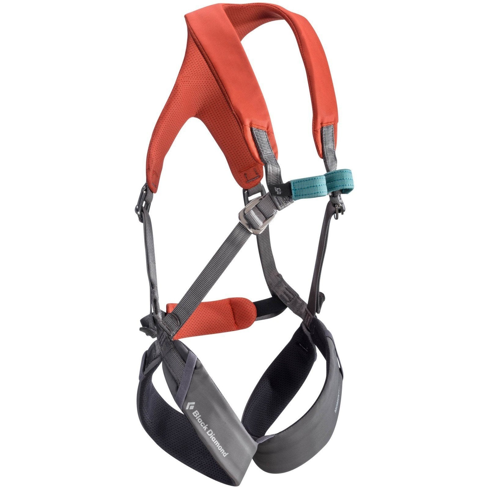 Black Diamond Momentum Kids Full Body Harness, in orange and grey colours