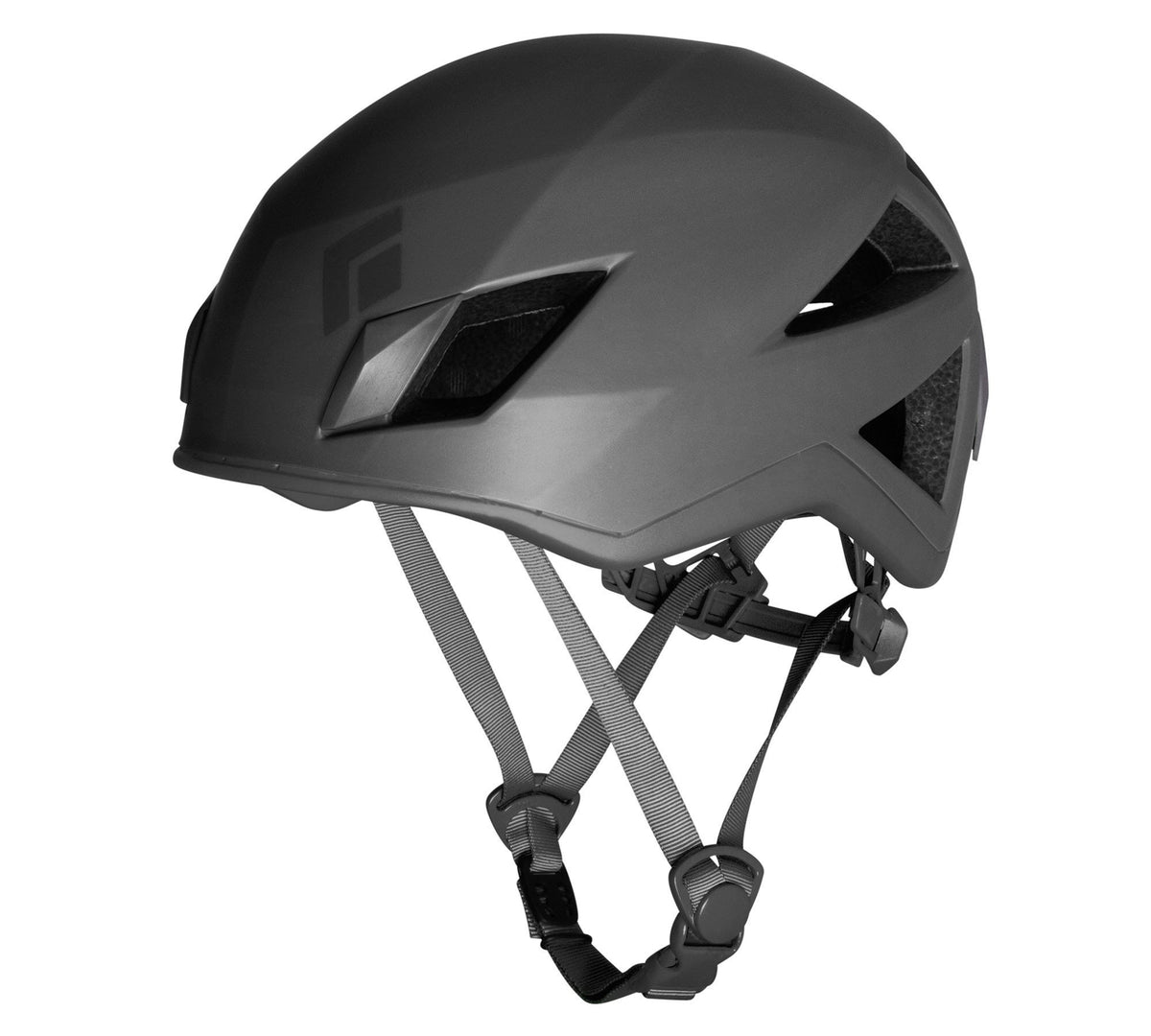 Black Diamond Vector climbing helmet, in Black/grey colours