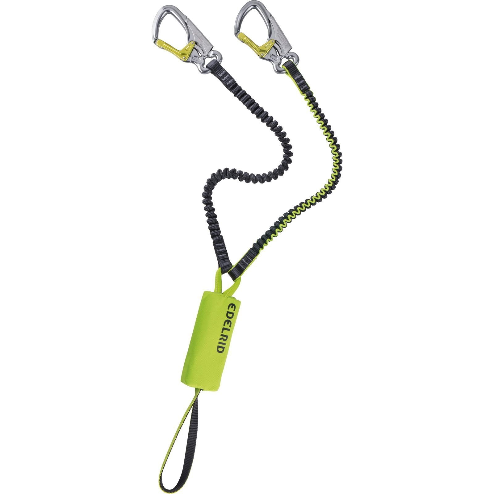 Edelrid Cable Kit Lite 5.0 via ferrata kit in green with silver carabiners