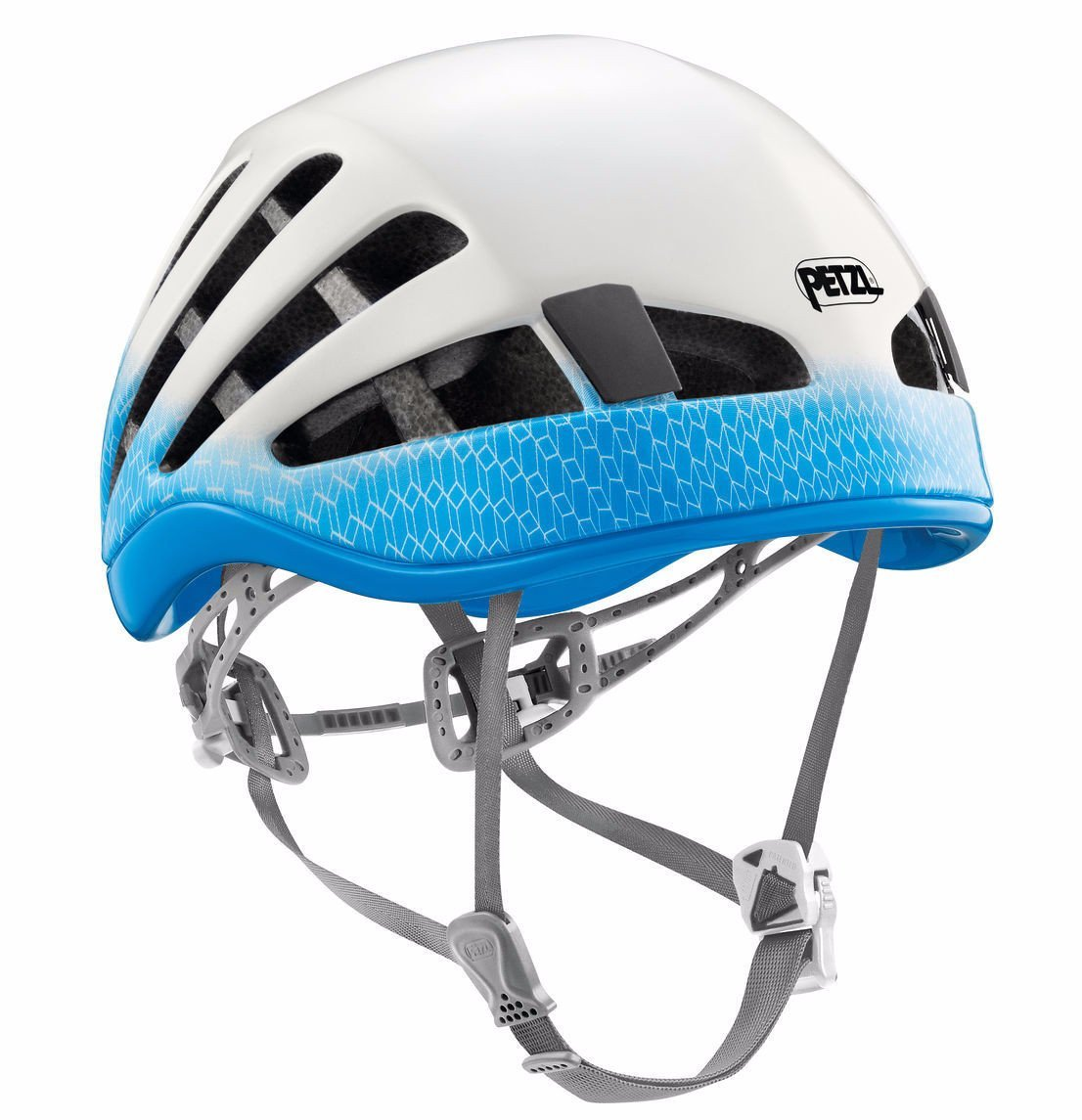 petzl meteor 4 climbing helmet white and blue