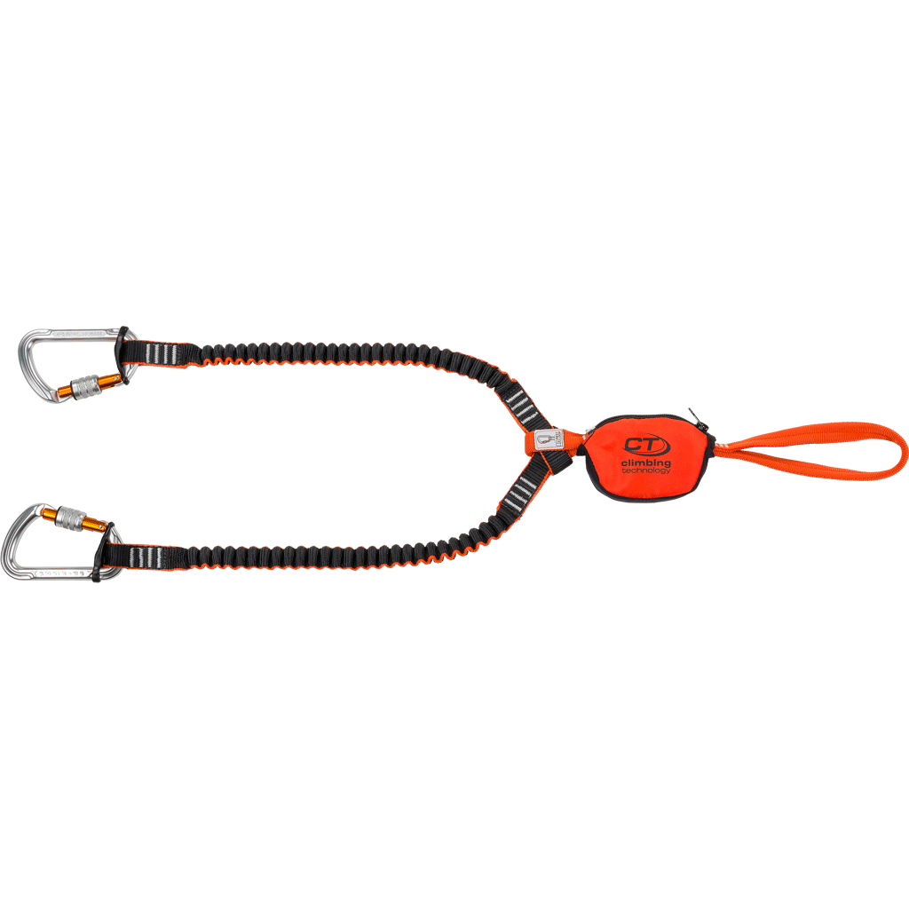 Climbing Technology Classic-K Slider Set, showing lanyard, slider and carabiners