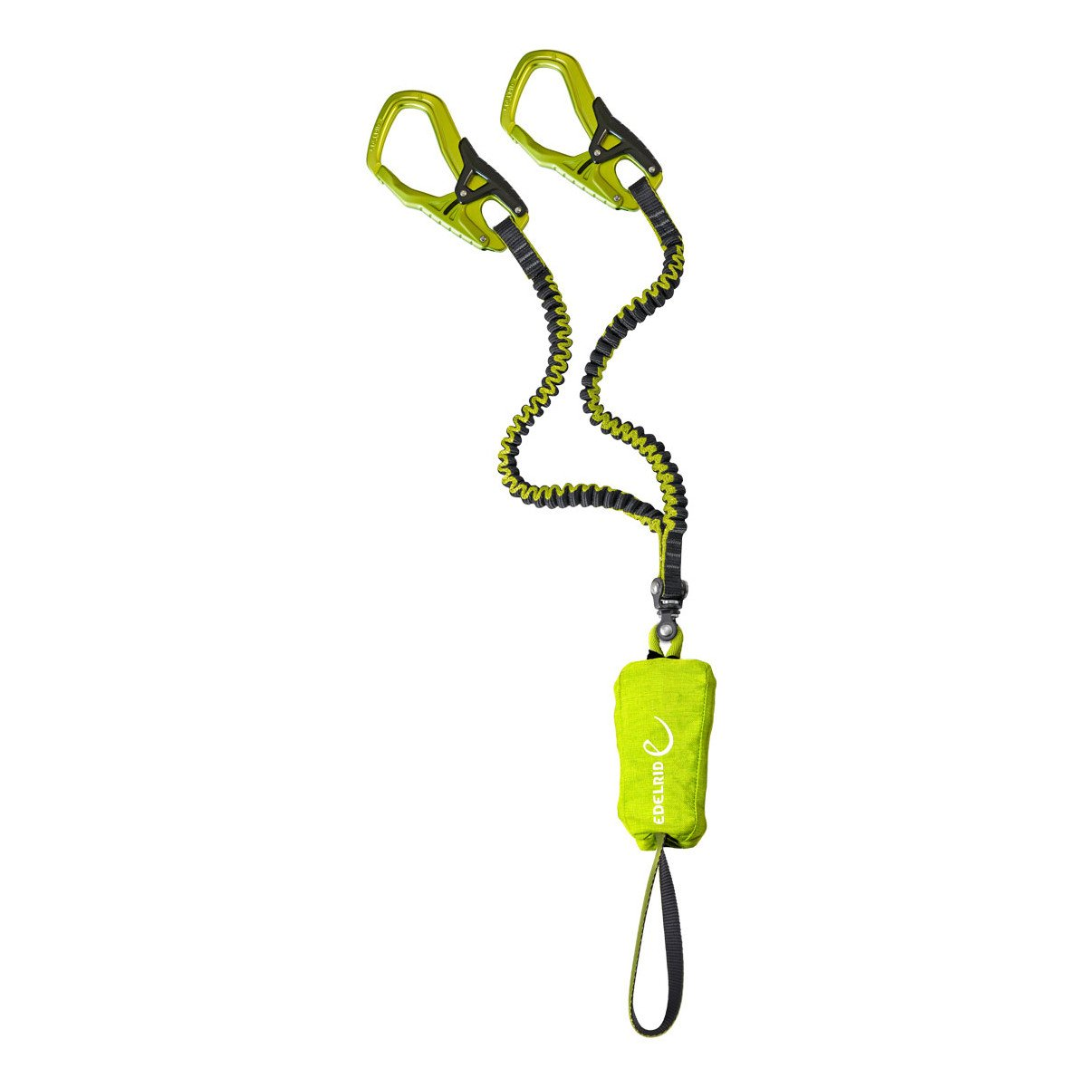 Edelrid Cable Comfort 5.0 via ferrata set, in green with green carabiners