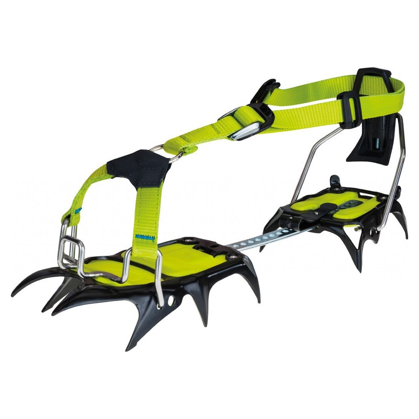 Edelrid Shark Crampon in green and black colours
