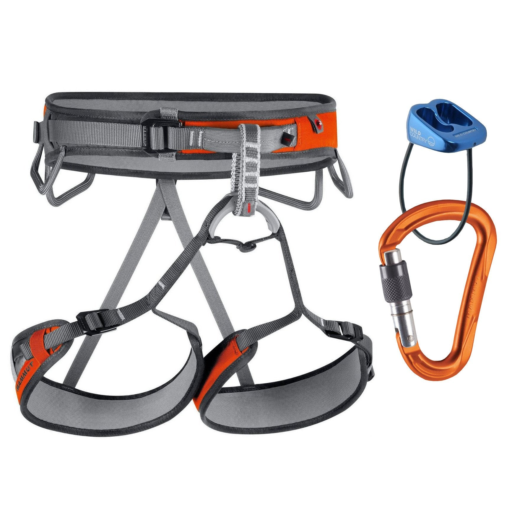 Mammut Ophir 3 Slide Harness Package in Grey,Orange & Blue