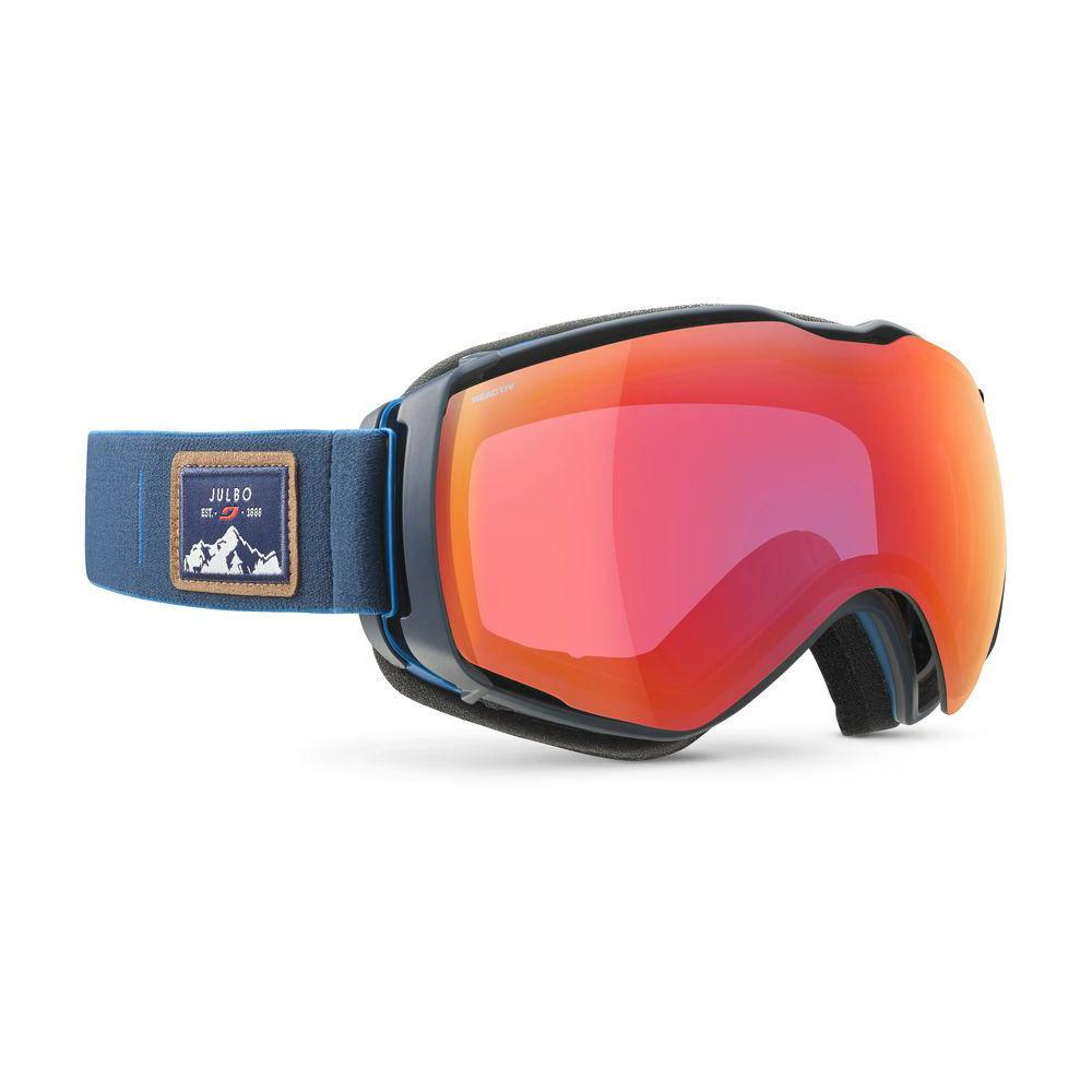 Julbo Aerospace Reactiv Photochromic Cat 2-3 Goggles, front/side view with Red/Yellow Lenses