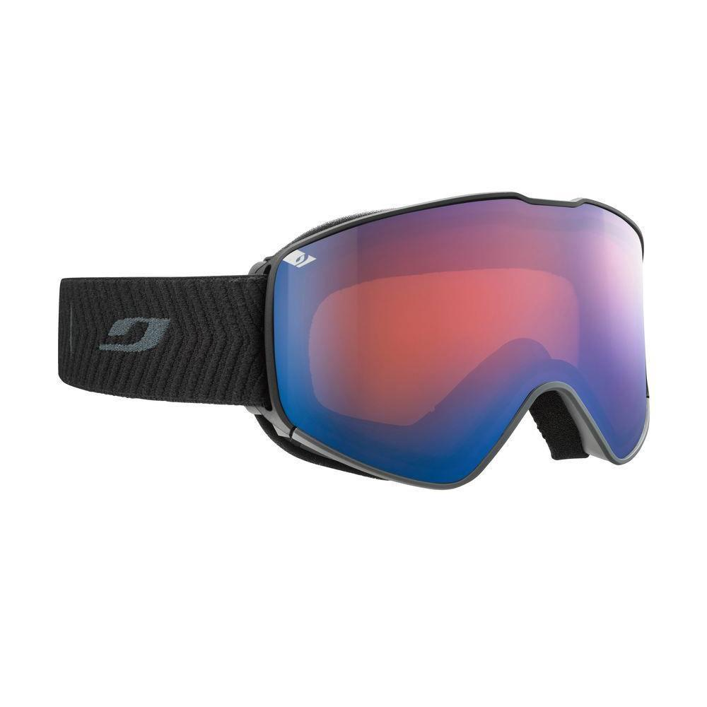 Julbo Alpha Spectron Cat 2 Goggles, front/side view with black strap