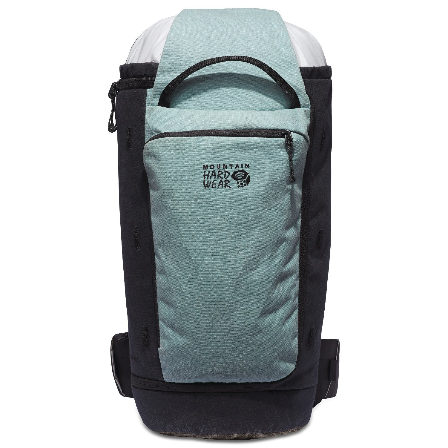 Mountain Hardwear Crag Wagon 45 backpack, front view in Light Blue and black colours