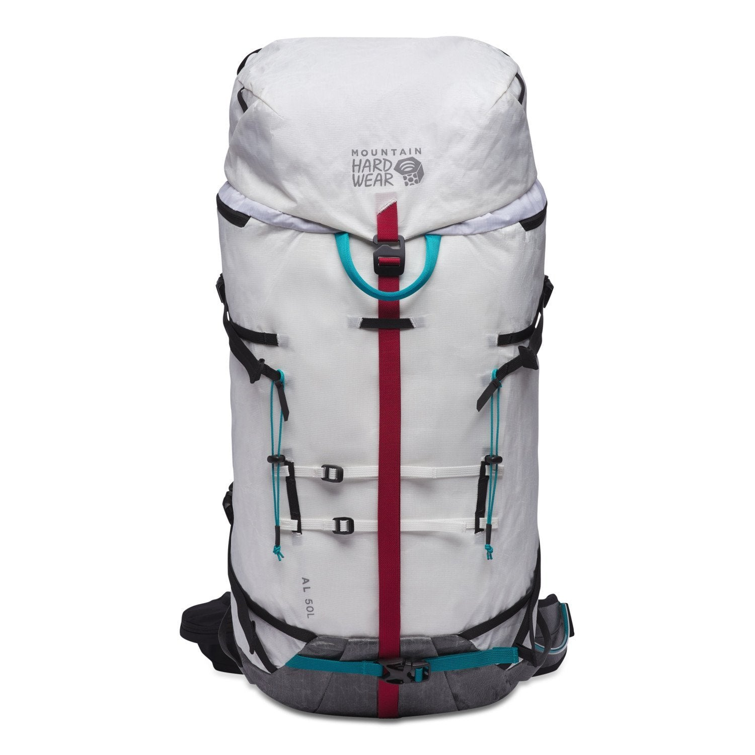 Mountain Hardwear Alpine Light 50 Front showing straps and haul loop
