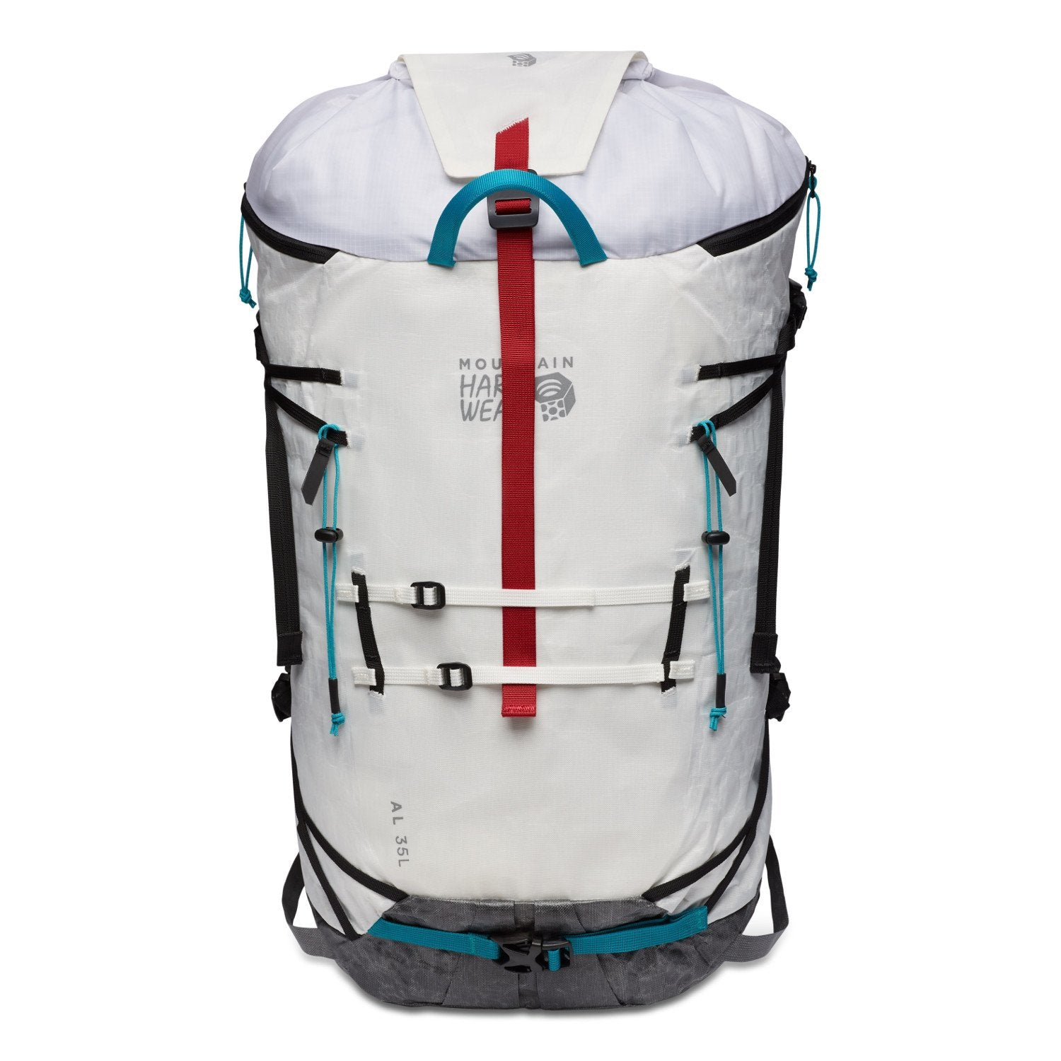 Mountain Hardwear Alpine Light 35L Front view showing the Haul loop and exterior strap features