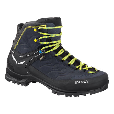 Salewa Rapace GTX Mountaineering Boot, in Black colour with green laces