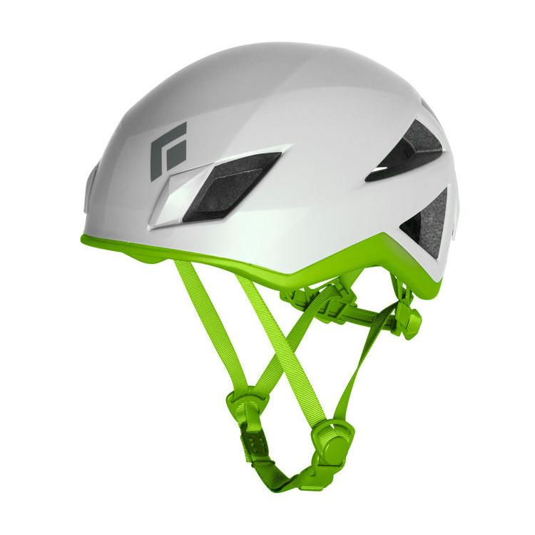 Black Diamond Vector climbing helmet, in white and green colours