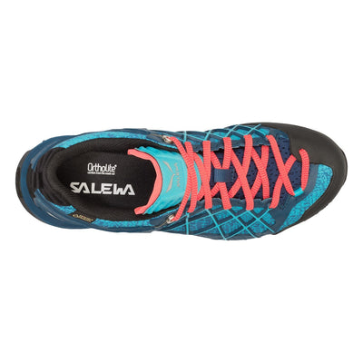 Salewa Wildfire GTX womens approach shoe, as seen from above.