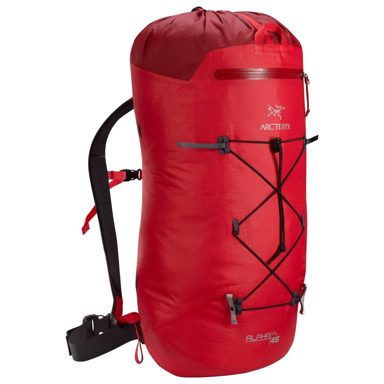 ArcTeryx Alpha FL 45 rucksack, in red colour