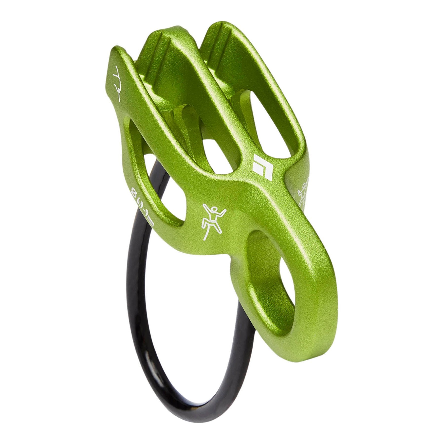 Black Diamond ATC Alpine Guide belay device, in green colour