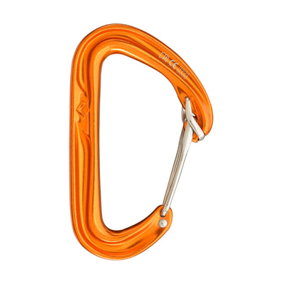Black Diamond Hoodwire climbing carabiner, in orange colour