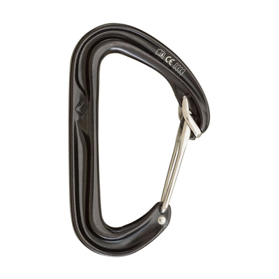 Black Diamond Hoodwire climbing carabiner, in black colour
