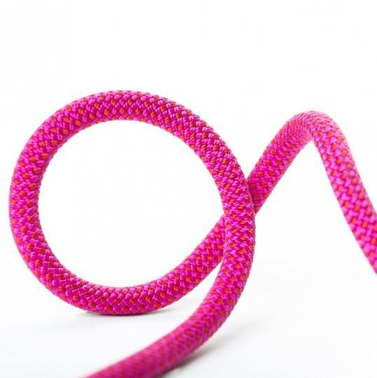Beal Stinger Unicore Golden Dry 9.4mm x 60m climbing rope, shown in pink colour