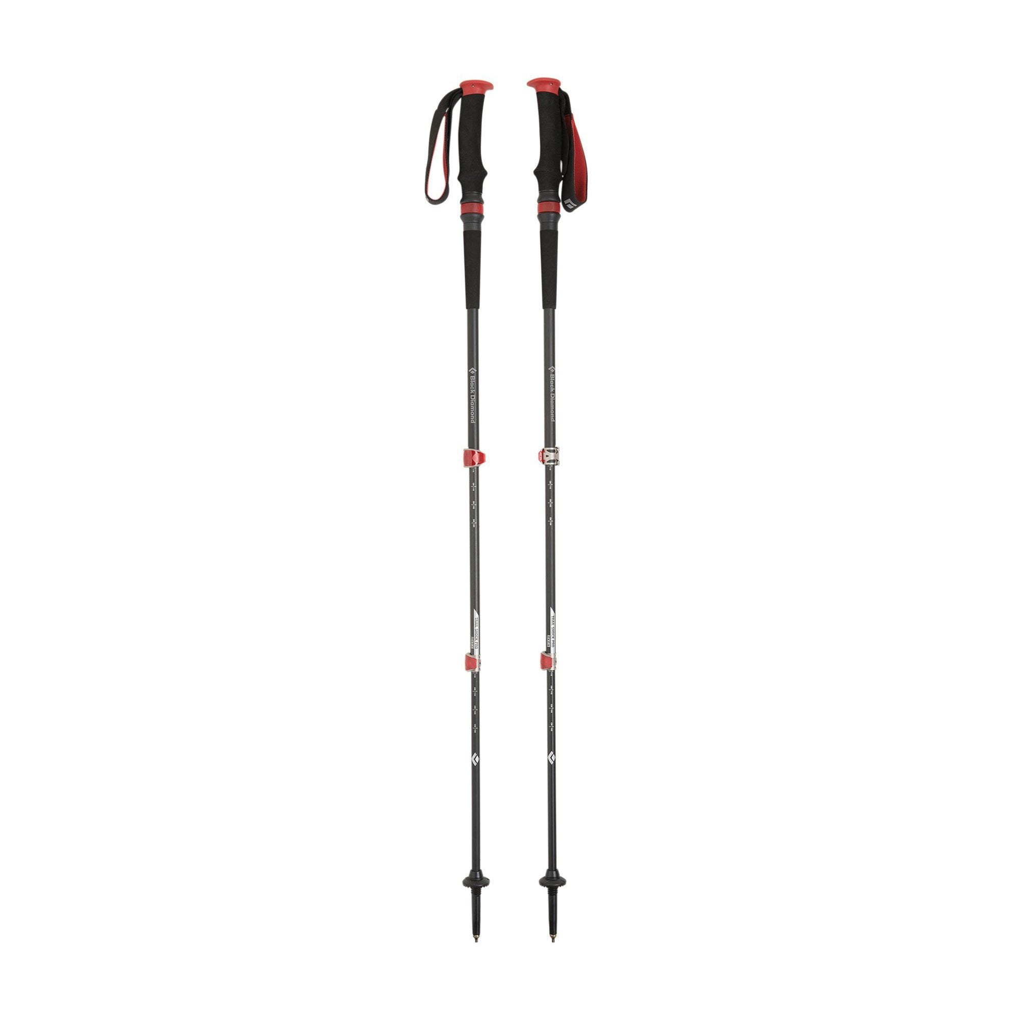 Black Diamond Trail Pro Shock trekking pole, pair shown fully extended