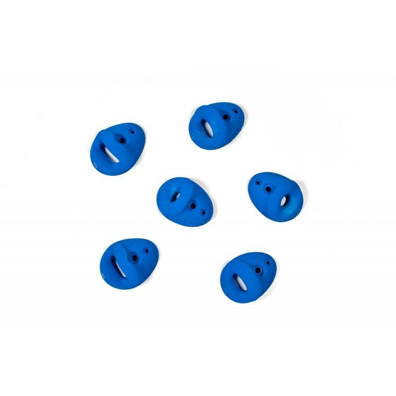 Bleaustone Training Range-Pockets-30' climbing holds, showing 6 pieces in blue colour