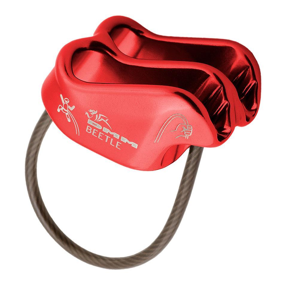 DMM Beetle climbing belay device in Red colour
