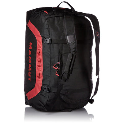 Mammut Cargon Holdall 90L, shown upright in rucksack mode