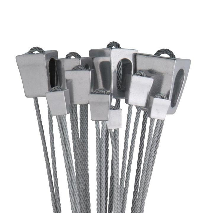 Wild Country Classic Rock Set, un-anodised climbing nut set in silver, sizes 1-10 shown in a clump