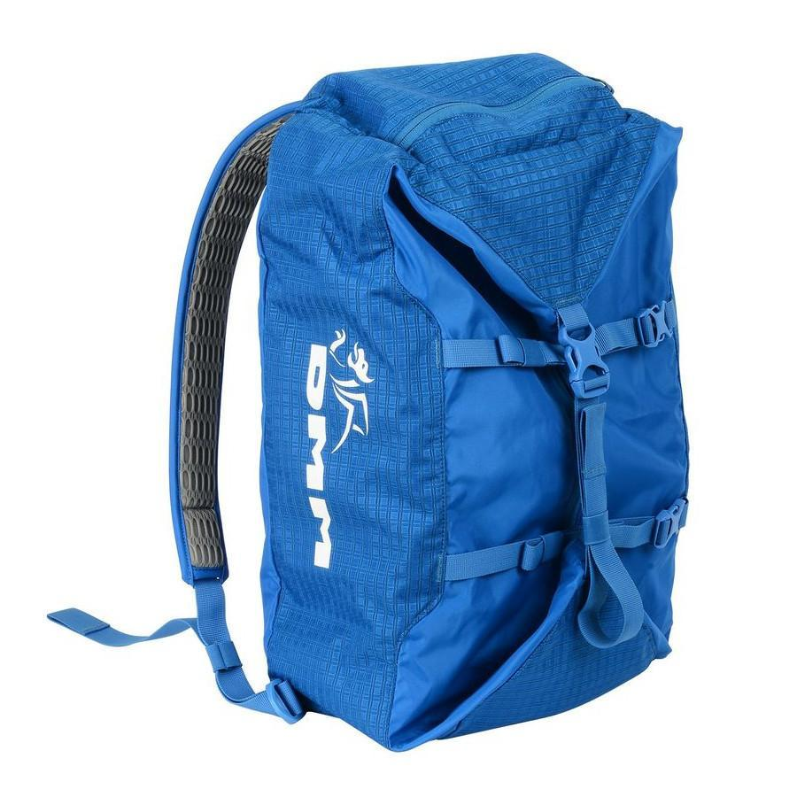 DMM Classic climbing Rope rucksack Bag, shown in blue colour