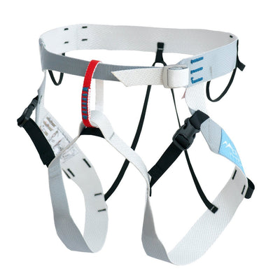 Blue Ice Choucas III Harness in white, grey and blue colours