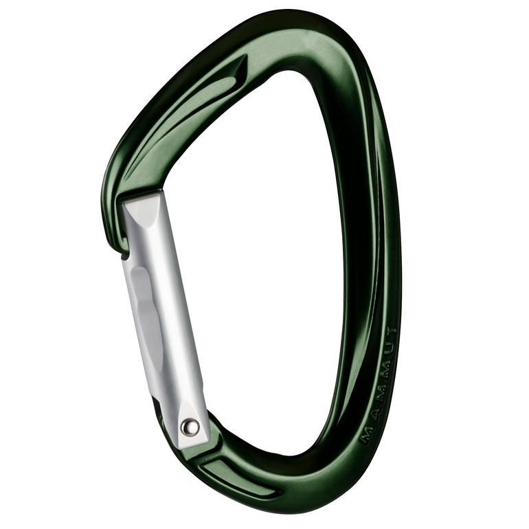 Mammut Crag Key Lock Straight (Green/Silver)